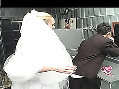 Outrageously hawt shemale bride getting fucking kicks after wedding ceremony