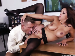 Bill Bailey loves hot Francesca LeS soaking wet love tunnel and bangs her as hard as possible