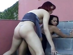 Tranny And Girl In Panties Gettin Freaky Pt2