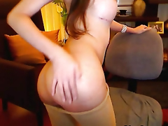 Busty Shemale Cutie Stroking her Cock